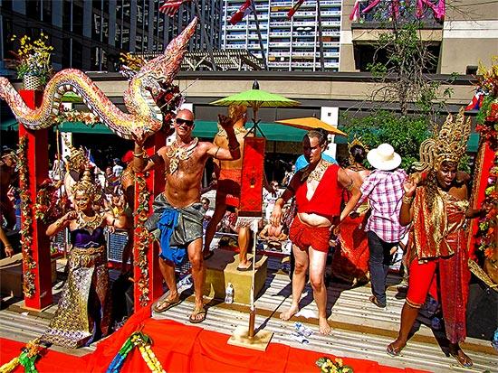 thailand, float, pride parade 2010, yonge street, toronto, city, life