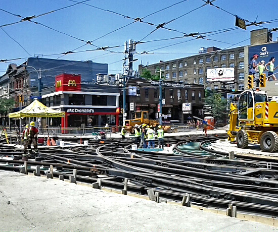 Queen/Spadina track replacement