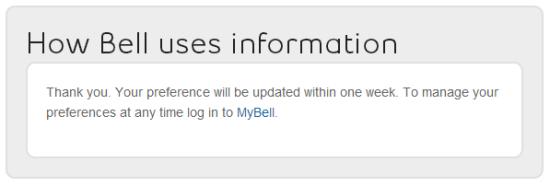 Bell one week